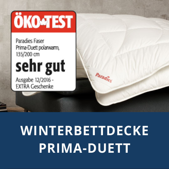 bettdecke Prima-Duett polarwarm - Ökotest sehr gut