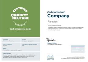 CarbonNeutral® Zertifikat