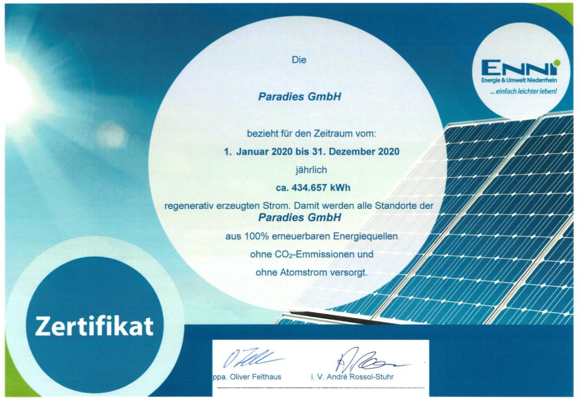 Strom aus 100% erneuerbaren Energiequellen