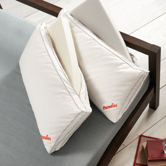 Down support pillows