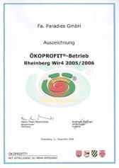 Zertifikat Ökoprofit®-Betrieb